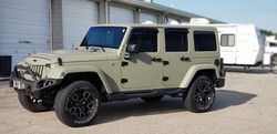 Cincy Vinyl Wraps Matte Khaki Green Jeep