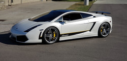 Cincy Vinyl Wraps Pearl White Gallardo (