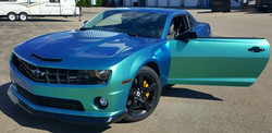 Cincy Vinyl Wraps Aquamarine Camaro (3).