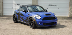 Cincy Vinyl Wraps Satin Blue-Black Mini