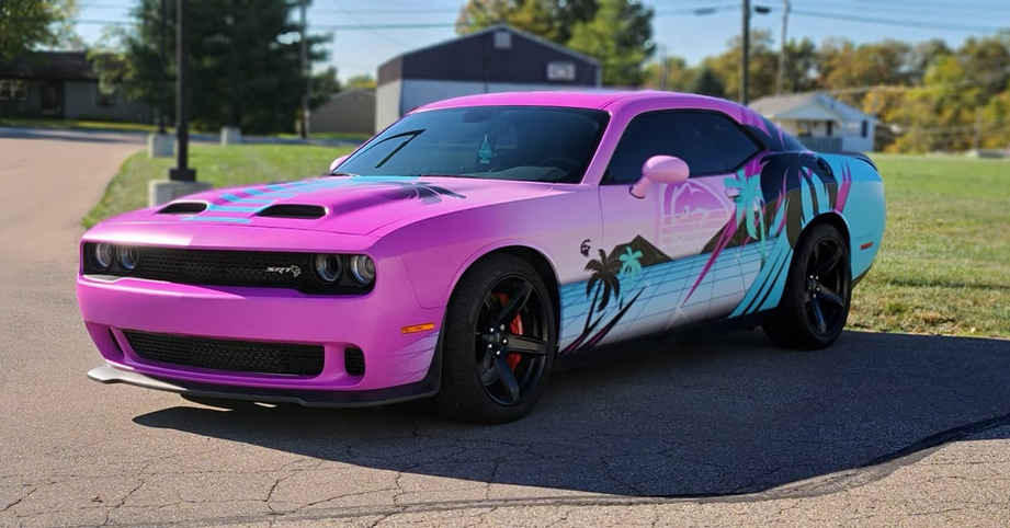 Cincy VInyl Wraps Red Eye Hellcat Miami