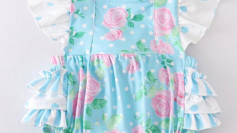Mint Floral Polka Dot