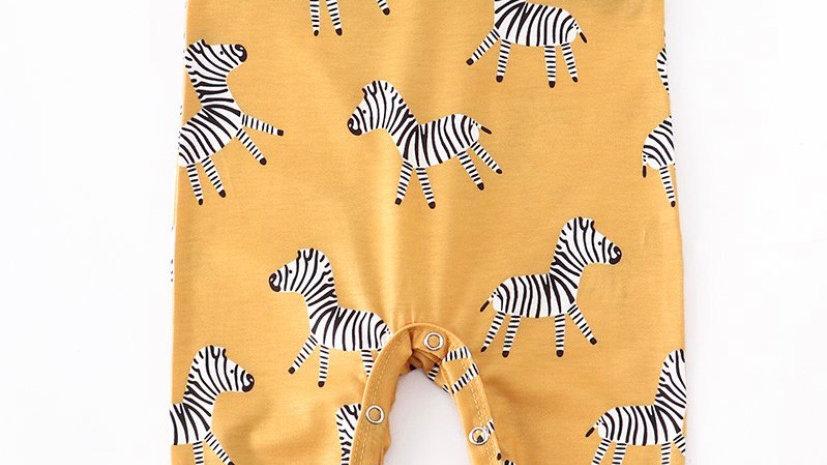Zebra Baby Romper