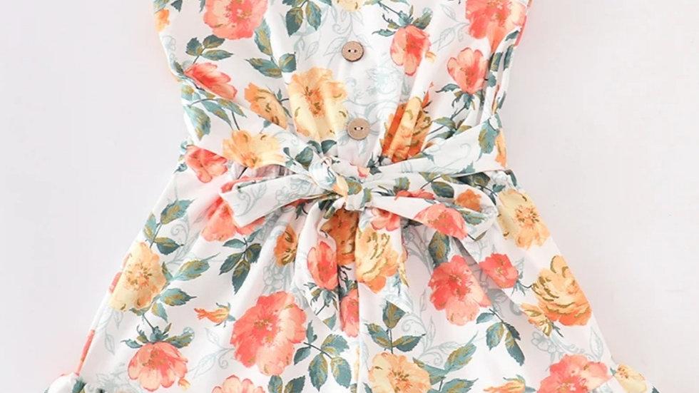 Floral Ruffle Jumpsuit Romper