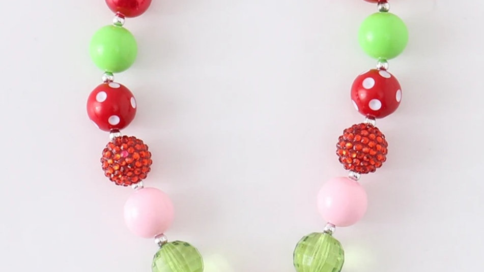 Strawberry Beaded Necklace
