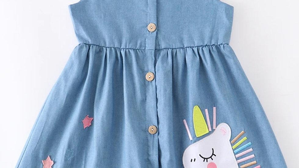 Denim Unicorn Dress