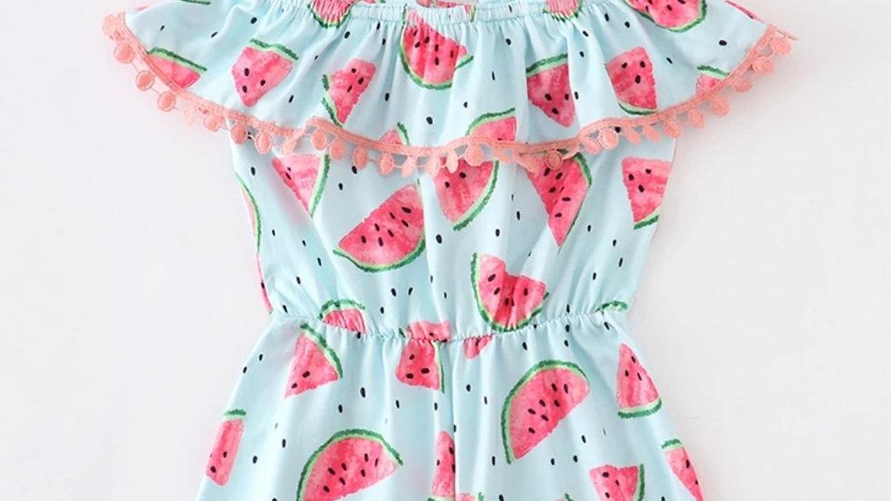 Watermelon Pom Pom Romper