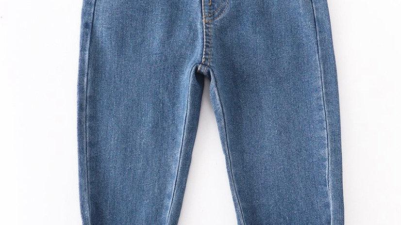 Bow Front Denim Tie Jeans