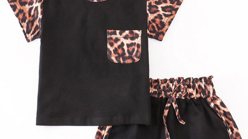 Leopard Shorts Lounge Set