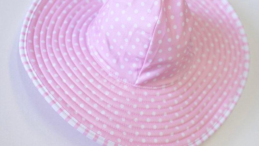 Pink Reversible Sun Hat