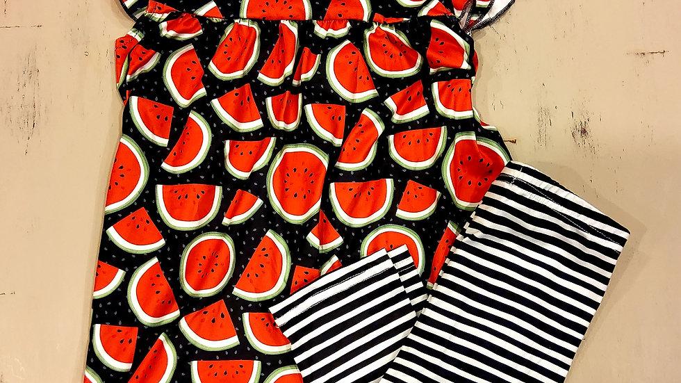 Watermelon Capri Set