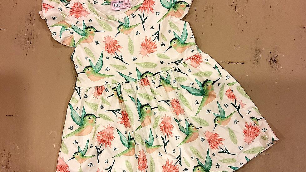 Hummingbird Short Sleeve Dress