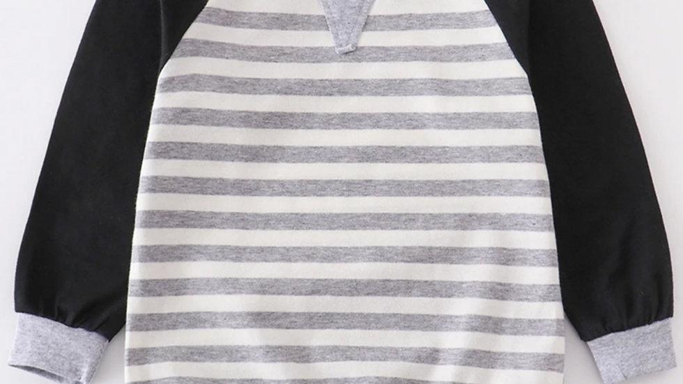 Grey Stripe Boy Shirt
