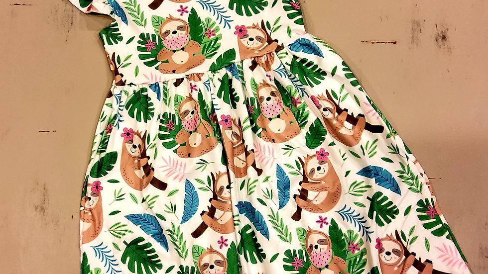 Sloth Short Sleeve Dress