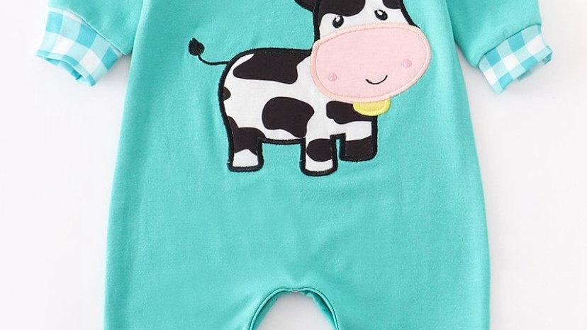 Blue Cow Romper