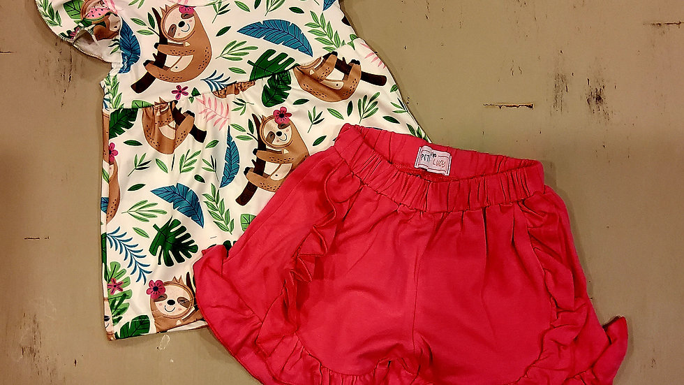 Sloth Short Set