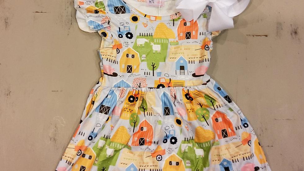 All Around The Farm Dress