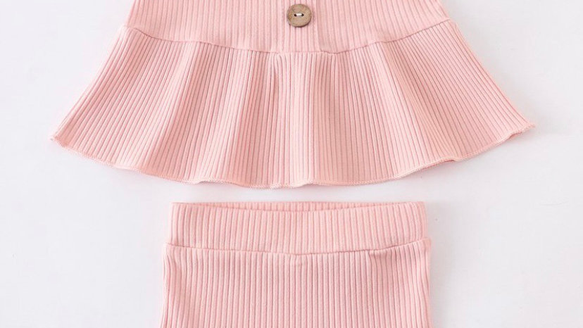 Pink Ruffle Baby Set