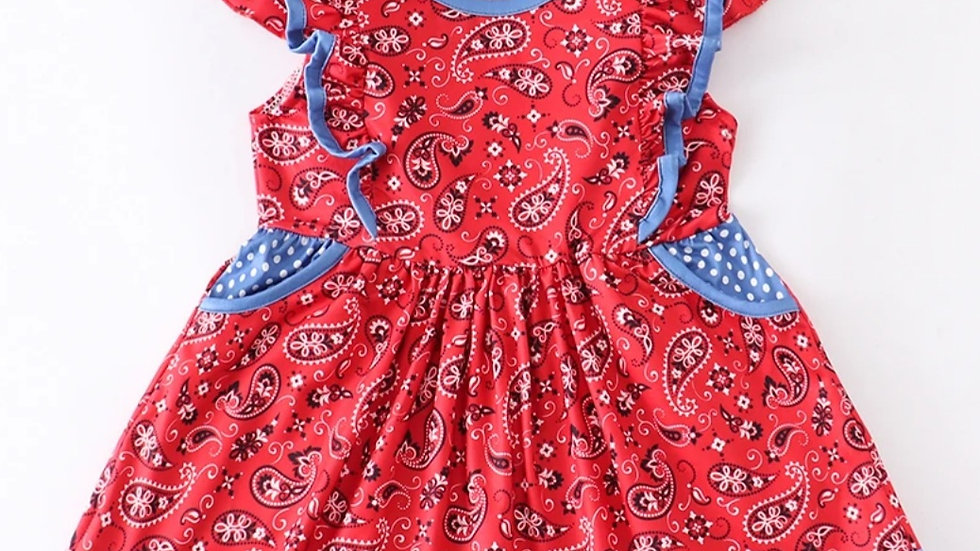 Paisley Red Dress