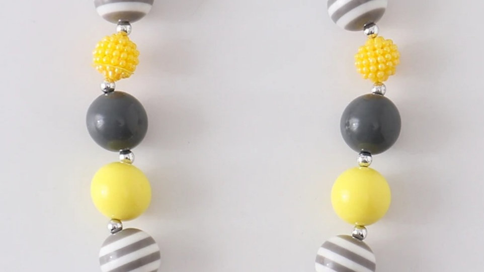 Yellow Rose Chunky Beaded Necklace