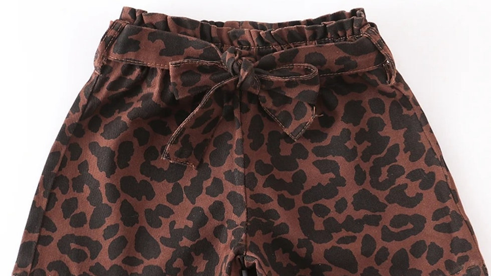 Leopard Shorts with Belt