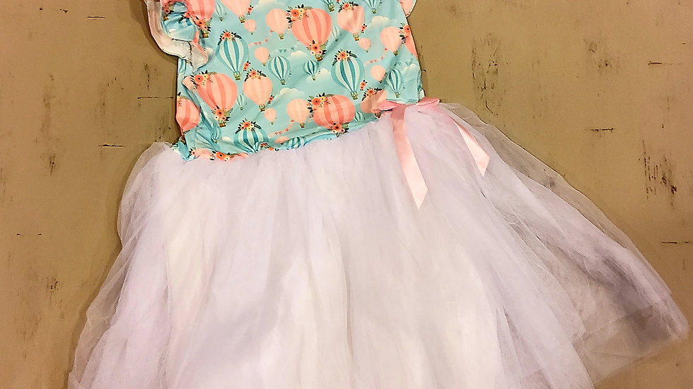 Hot Air Balloon Short Sleeve Dress