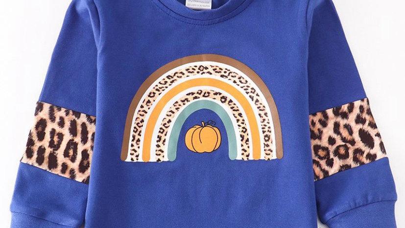 Blue Pumpkin Rainbow Shirt