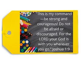Courage - Joshua 1_9 - Backback Promise.