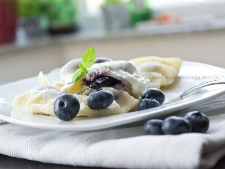 Our Award Winning Blueberry Cheesecake Perogies are back in Stock