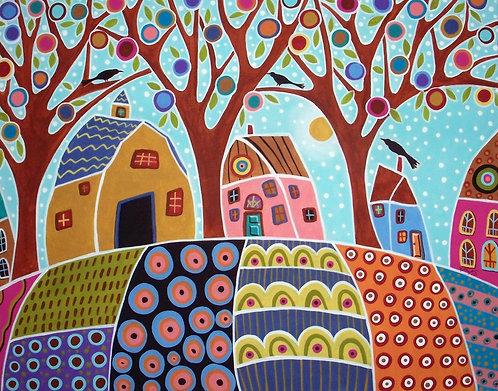 Three Houses Barn and Birds