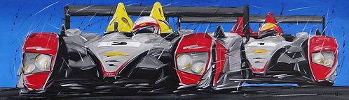 Le Mans Audi R10 1 and 2