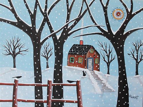 Winter Sight mixed media