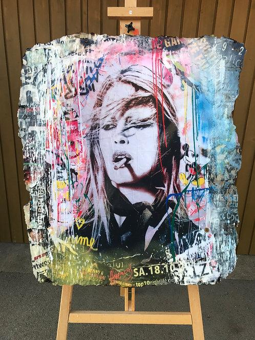 Original Collage Kunstwerke - Bardot Pop