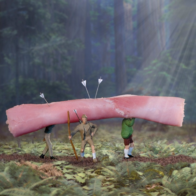 Ham Hunters 90x90cm