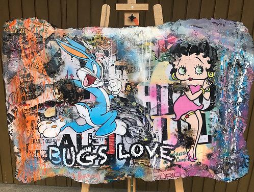 Original Collage Bugs Love Buggy Bunny