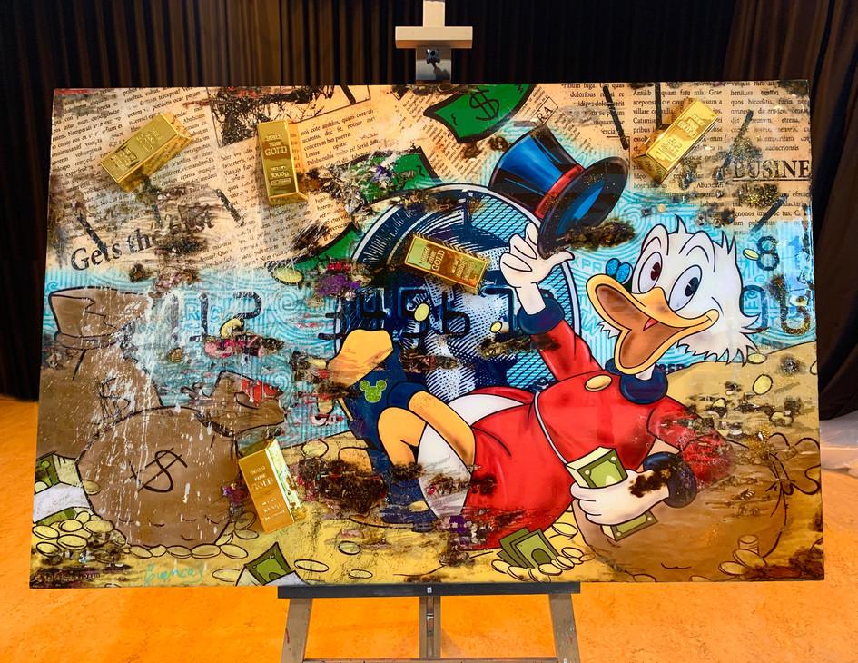 Uncle Scrooge in Duckburg (sold)