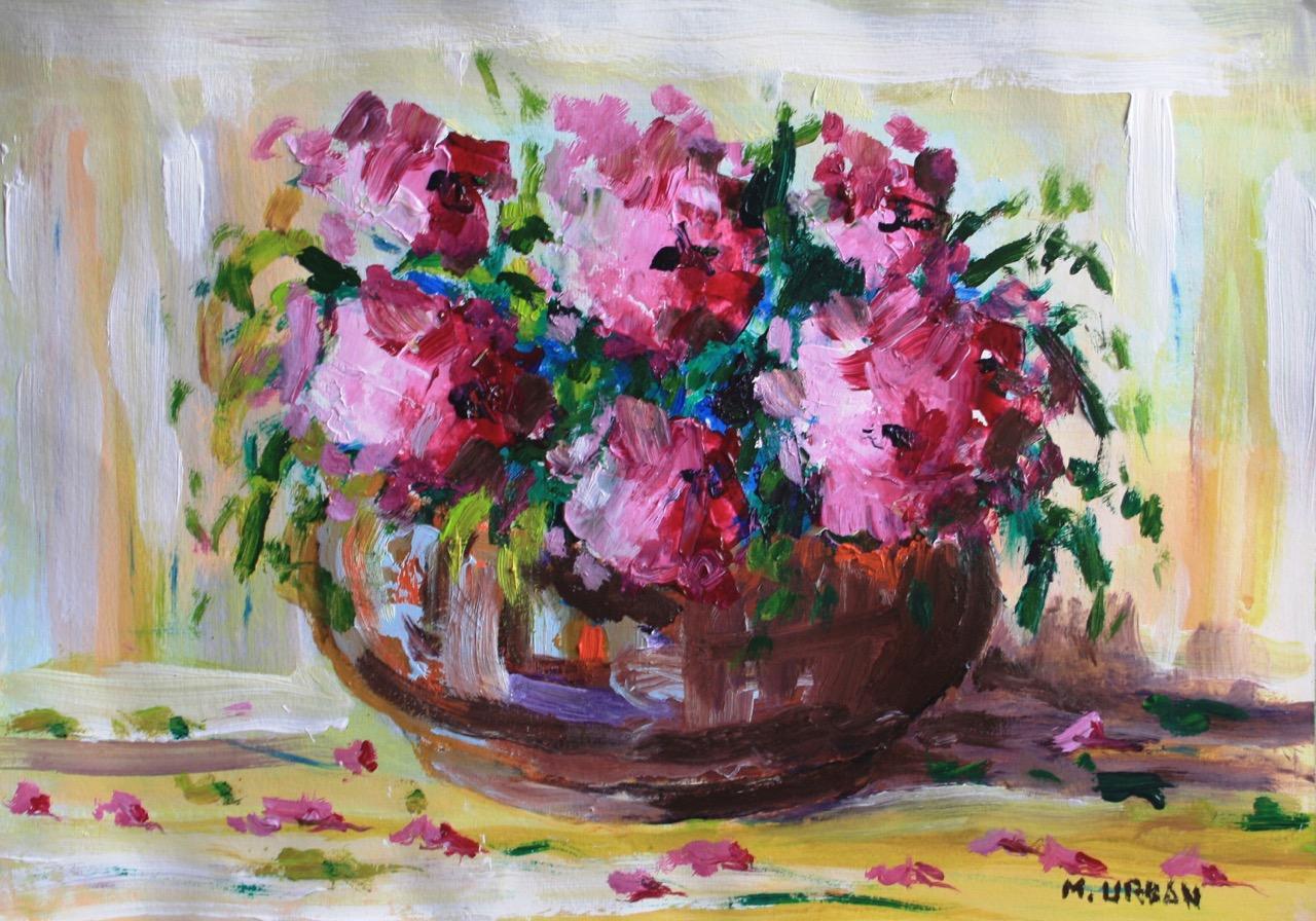Arranjo Flores magenta43x61