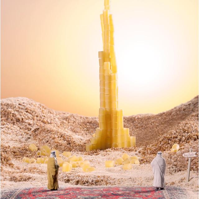 Burj Pasta khalifa 90x90cm