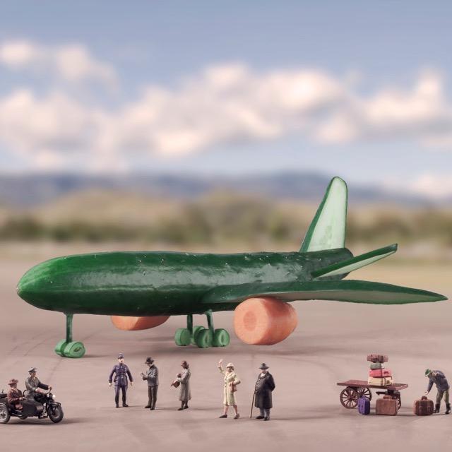 Cucumber Flight-001 90x90cm