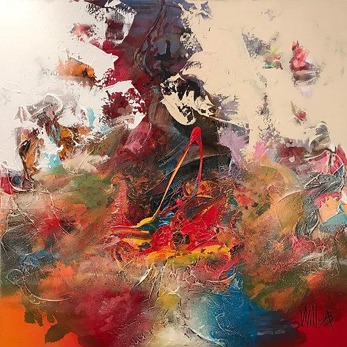 Colorful Against Pastel 90x90cm