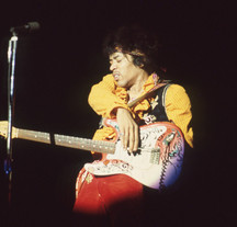 Jimi on the stage