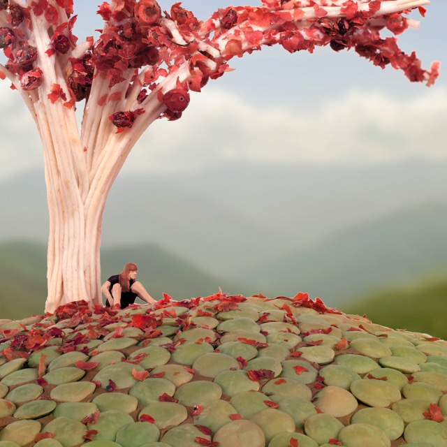 Pink Pepper Spring 90x90cm