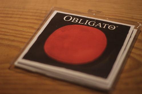 Obligato strings with gold E