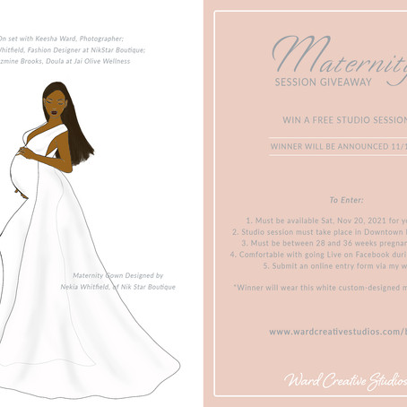 2021 Maternity Session Giveaway