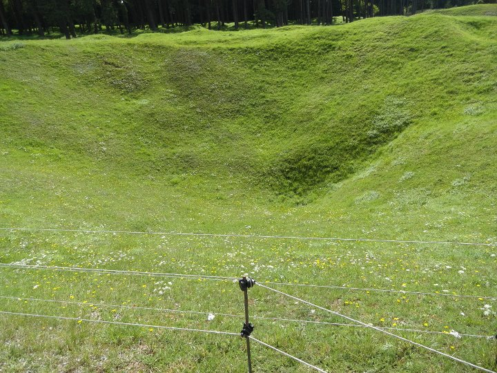 Vimy Ridge shell crater