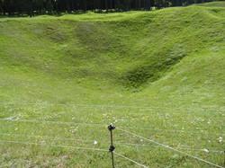 Vimy Ridge shell crater