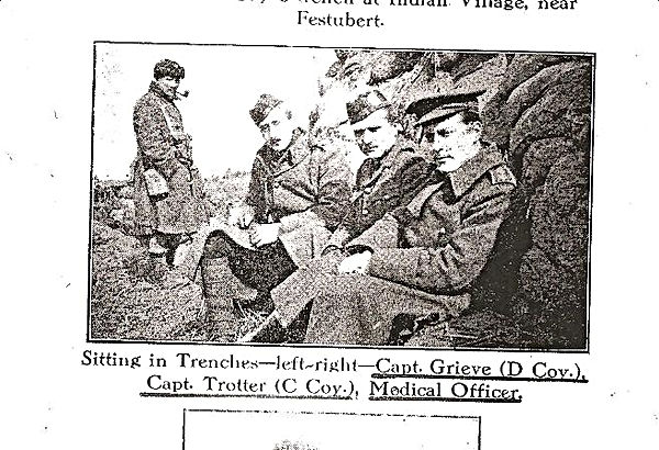 WWI newspaper photo of Capt. Trotter