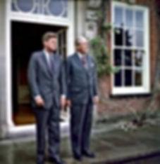 Prime Minister Harold MacMillan and JFK