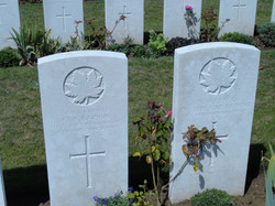 Canadian WWI Solider Graves