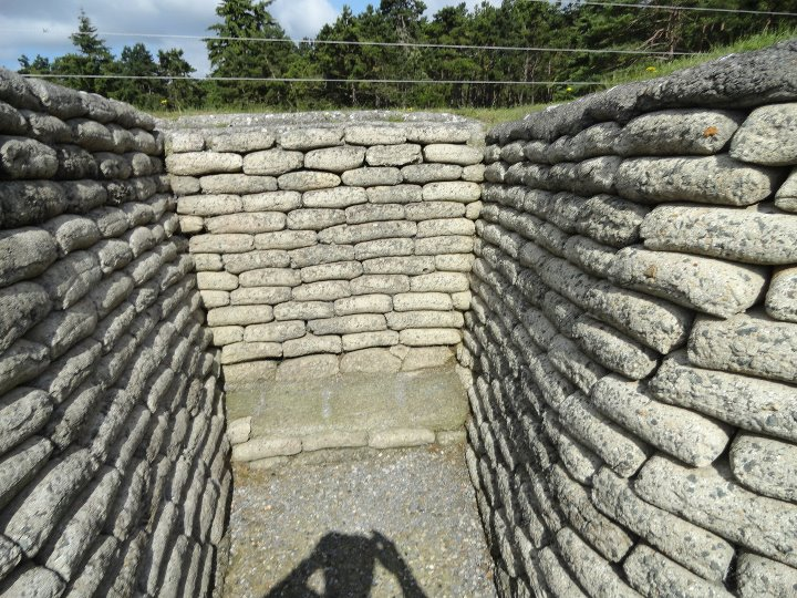 Preserved WWI trench, Vimy Ridge
